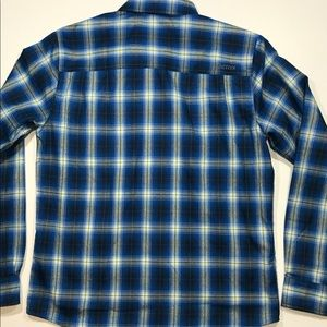 Marmot Shirts - Men's Marmot L/S Button Plaid Shirt Medium Blue